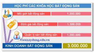 bang gia hoc phi bat dong san 300x170 - Cấp Chứng Chỉ Hành Nghề Môi Giới Bất Động Sản