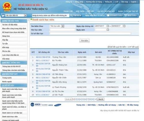 Hệ thống Cục Quản Lý Đấu Thầu - Muasamcong.mpi.gov.vn