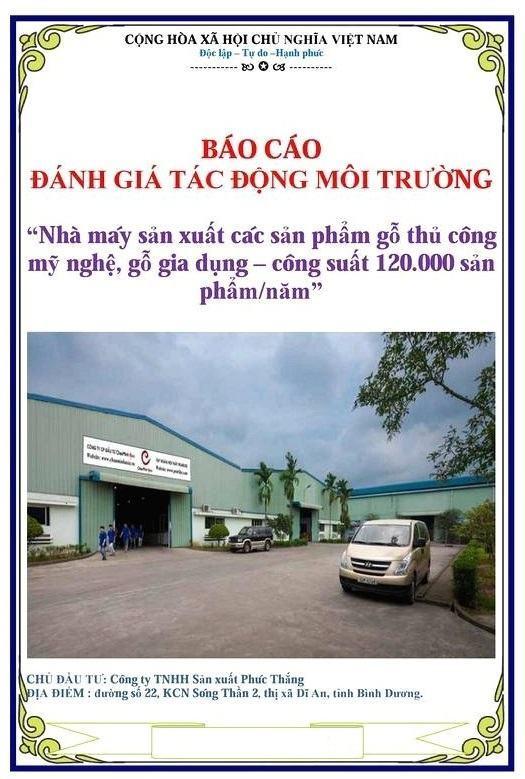 dtm nha may sx go - DV Đánh giá tác động môi trường ĐTM cho nhà máy sản xuất đồ gỗ